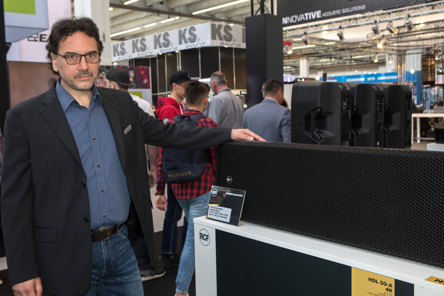 RCF at PL+S 2019: HDL 26-A and HDL 50-A 4K listening sessions