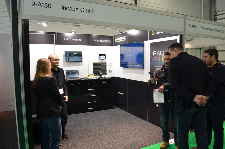 The Inoage booth at ISE 2020