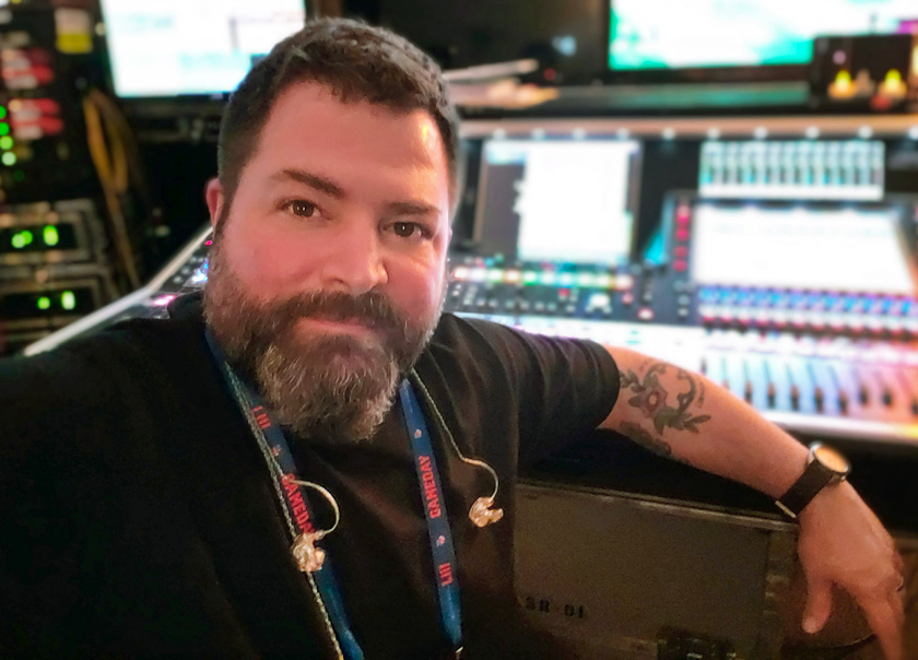 Tom Pesa, the ultra skilled monitor engineer with 24 shows in his pocket